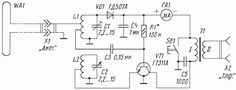 Free Power Radio Circuit diagram