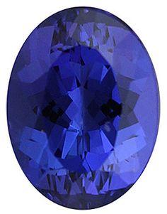 Genuine Tanzanite Loose Gemstone, Blue Purple Color Violet, Oval Cut, 12 x 9 mm, 4.99 Carats at BitCoin Gems