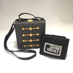e6fac6f2dece gianni versace vintage boxy hand bag   sling bag from the 90s. perfect  condition.