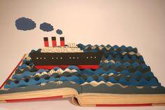 paper boat    http://www.behance.net/gallery/Zwischen-den-Seiten/3278119