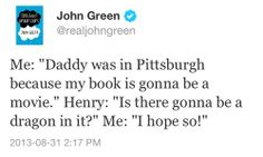 John Green is probably one of the coolest dads there is.