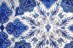 Liberty Tana Lawn fabric Lord Paisley- Blue- 10'' x 26''. £3.65, via Etsy.
