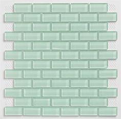 subway tile for kitchen backsplash or bathroom tile ideas in green color surf