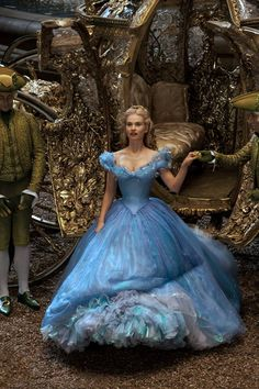 Lily James as Cinderella in the 2015 Disney Movie.