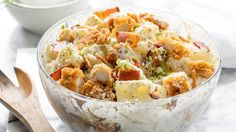 Take potato salad to a new level by combining chicken, bacon and ranch for an over-the-top side dish!