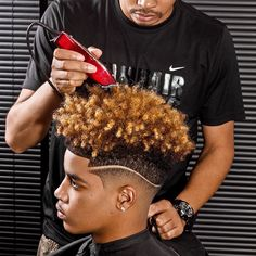 ***Try Hair Trigger Growth Elixir*** ========================= {Grow Lust Worthy Hair FASTER Naturally with Hair Trigger} ========================= Go To: www.HairTriggerr.com ========================= His Curl Popping 2 Tone Hair Cut is DOPE!!!!