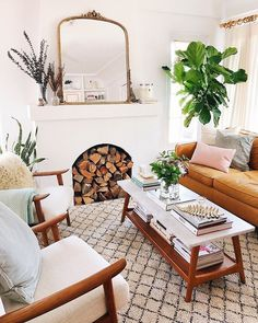 room decor apartment Living Room Makeover with West Elm Living Room Makeover with West Elm - New Darlings Living Room Mirrors, Boho Living Room, Cozy Living Rooms, Living Room Interior, Home And Living, Living Room Decor, Midcentury Modern Living Room, Living Room Inspiration, Living Room Designs