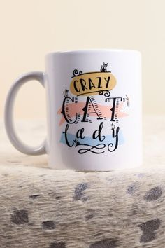 Crazy Cat Lady Mug | The Scribble Studio