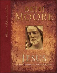 Jesus: 90 Days With the One and Only (Personal Reflections) by Beth Moore, http://www.amazon.com/dp/B002XUM2CY/ref=cm_sw_r_pi_dp_P3W3pb18YS16E