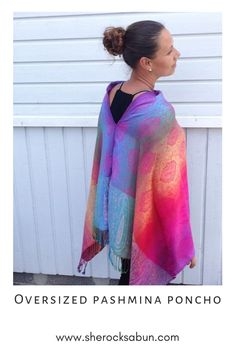I love a good poncho - who doesn't! Feel great, look great and boost your confidence with these gorgeous and flattering accessories! Chunky Scarves, Feel Unique, How To Have Twins, Elephant Print, Things That Bounce, Looks Great, Confidence, Rocks, Tie Dye