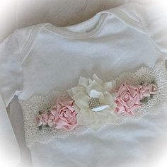 Newborn Girl Coming Home Outfit Newborn Girl Gown Go Home   Etsy Girls Coming Home Outfit, Take Home Outfit, Gifts For Newborn Girl, Baby Girl Newborn, Peach Flowers, Satin Flowers, Gowns For Girls, Lace Outfit, Lace Headbands