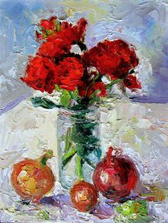 Roses, Onions, Grapes, oil, 10 x 8, $425