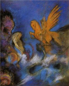 Roger and Angelica, c. 1910 - Odilon Redon