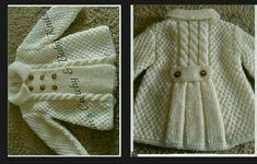 Knitting Pattern For Garter St - Diy Crafts - Marecipe Shrug Knitting Pattern, Crochet Baby Sweater Pattern, Baby Sweater Patterns, Knit Baby Sweaters, Lace Knitting Patterns, Knitting Designs, Free Knitting, Baby Knitting, Baby Pullover Muster