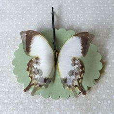 Soft - Handmade Bio Cotton and Silk Organza Butterfly by TheButterfliesShop