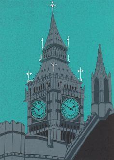 Jennie Ing   Big Ben   #art   #london   #print
