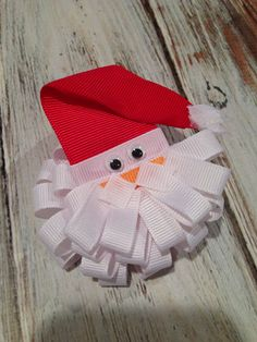 Ho, ho, ho!!! :) Santa Claus puff hair bow. Available in my etsy shop or on my Facebook page. Bella Grace's BOWtique