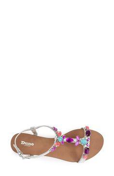 Dune London 'Khloe' Crystal & Leather Sandal (Women) | Nordstrom