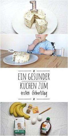 Ein Rezept für eine wunderbare gesunde, zuckerfreie und einfache Torte für Kinder zum 1. Geburtstag