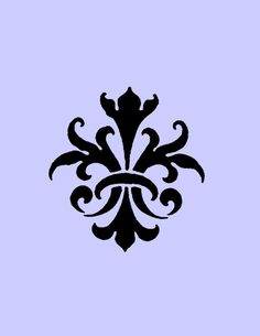 STENCIL Vintage Fleur de lis Wallpaper by ArtisticStencils on Etsy, $10.00