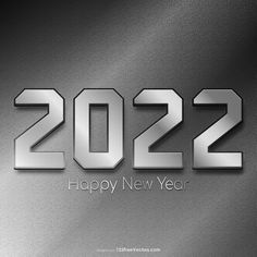 Free New Year Silver Background 2022