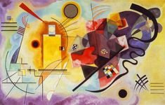 Yellow-Red-Blue by Wassily Kandinsky - Famous Russian Art - Handmade Oil Painting on Canvas — Canvas Paintings Kandinsky Art, Wassily Kandinsky Paintings, Acrylic Painting Images, Oil Painting On Canvas, Your Paintings, Original Paintings, Miro Paintings, Mondrian, Russian Art