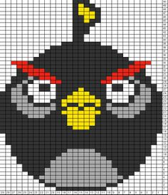 Tricksy Knitter Charts: Angry bird black