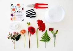 Add a pop of flower color to your decor with a DIY floral arrangement.