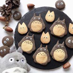 Cute Snacks, Cute Desserts, Cute Food, Yummy Food, Icebox Cookies, Kawaii Dessert, Cute Cookies, Macaroons, Cookie Decorating