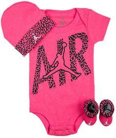 c7d7a9a06f77 Infant Jordan Elephant Air 3-Piece Set. Nike Baby Girl ClothesBaby ...