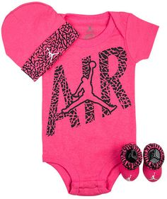 Baby Girl Jordan Clothes Adorable Nike Jordan Infant New Born Baby Layette 3 Piece Set $36 ❤ Liked Design Inspiration
