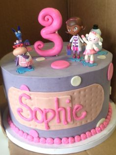 Doc McStuffins cake for my daughter's birthday!my favorite Doc Mcstuffins Cake, Doc Mcstuffins Birthday Party, 3rd Birthday Parties, Birthday Cake, Birthday Ideas, Chocolates, Bday Girl, Girly, Occasion Cakes