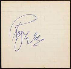 Roger Waters Autograph - Bing images