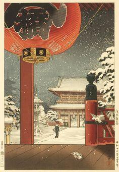 Asakusa Kannon Temple by Tsuchiya Koitsu