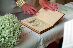 vintage book ring holder