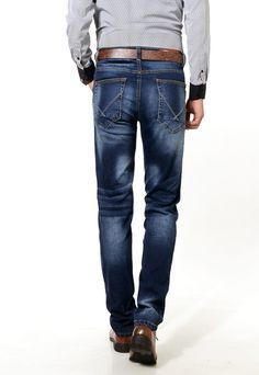 High stretch New jeans man straight loose soft and comfortable trousers