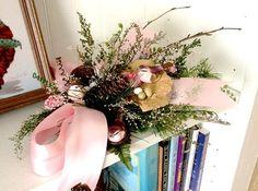 Dried Floral Arrangement Table Top Shelf Mini by DivineAngelShop