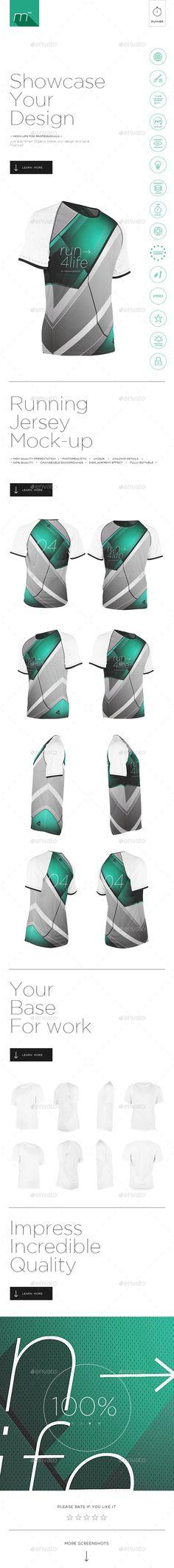 Running Jersey Mock-up #design Download: http://graphicriver.net/item/running-jersey-mockup/11650503?ref=ksioks