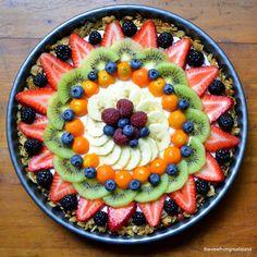Beautiful Breakfast Tart by theviewfromthegreatisland: Fruit, yogurt and granola! #Tart #Fruit #Breakfast