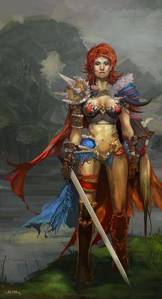 Red Sonja by JenZee.deviantart.com on @deviantART