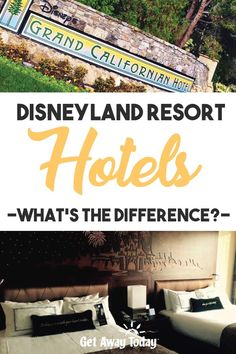 UPDATED FEBRUARY 2020 At Get Away Today we're always asked about the Hotels of the Disneyland Resort. What makes them different from other hotels? Best Hotels Near Disneyland, Disneyland Resort Hotel, Disneyland Vacation, Disney Resorts, Disney Trips, Hotels And Resorts, Hotel Comparison, Get Away Today, Grand Californian