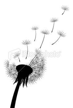Dandelion Silhouette Royalty Free Stock Vector Art Illustration