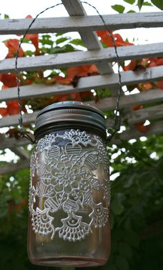 """DIY Moroccan lanterns using old bottles, jars, glass stain, costume """"gemstone"""" embelishments, gold paints and possibly the use of paper doilies. Recycled Wine Bottles, Wine Bottle Corks, Bottles And Jars, Bottle Art, Glass Jars, Diy Arts And Crafts, Home Crafts, Diy Crafts, Mason Jar Crafts"""