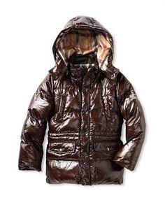 50% OFF Burberry Kid  s Puffer Coat (Brown) M65 Jacket f5ffbd6199c34