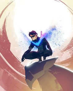 Search 'nightwing' on DeviantArt - Discover The Largest Online Art Gallery and Community Nightwing Wallpaper, Nightwing And Batgirl, Arte Dc Comics, Marvel Comics, Batman Universe, Dc Universe, Robin Dc, Univers Dc, Batman Beyond