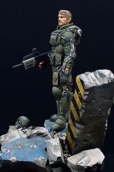 Exo suit light armor. (Ghost company 1/20, 90mm) (完成.) (ページ 1) / リアルスケールモデル、シヴィリアン(民間人)、ファンタジー、他 / JAPANミリテールフォーラム