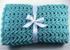 PDF Pattern Crocheted Baby Afghan, CAR SEAT Size and Newborn Size Blanket -- Cascade