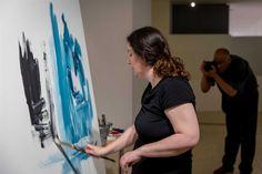 Exposição - O Oriente de Natália Gromicho pintado ao vivo