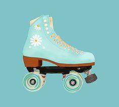 Retro Roller Skates, Roller Skate Shoes, Roller Skating, Skate Wallpaper, Skates Vintage, Aesthetic Couple, Bright Summer Acrylic Nails, E Skate