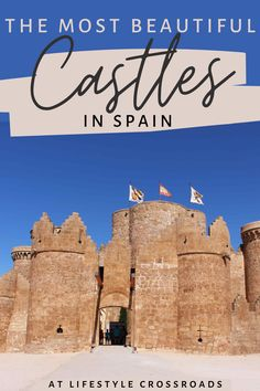 Do you like visiting castles in Europe? - Check this list of my favorite dreamy Spanish castles and get ready to channel your inner royalty! #spain #travel #castles | Castles in Spain | Beautiful Fairytale Castles in Europe | Spain things to Do | Spain Fairytale Places| Spain what to see | Spain places to visit | Spain Travel Beautiful Places | Europe Travel Destinations | Spain Hidden Gems| Storybook Places Around the World | Spain tourism top sights| Spain Travel Guide, Europe Travel Tips, European Travel, Travel Guides, Travel Destinations, European Trips, Spain Places To Visit, Cool Places To Visit, Spain Tourism